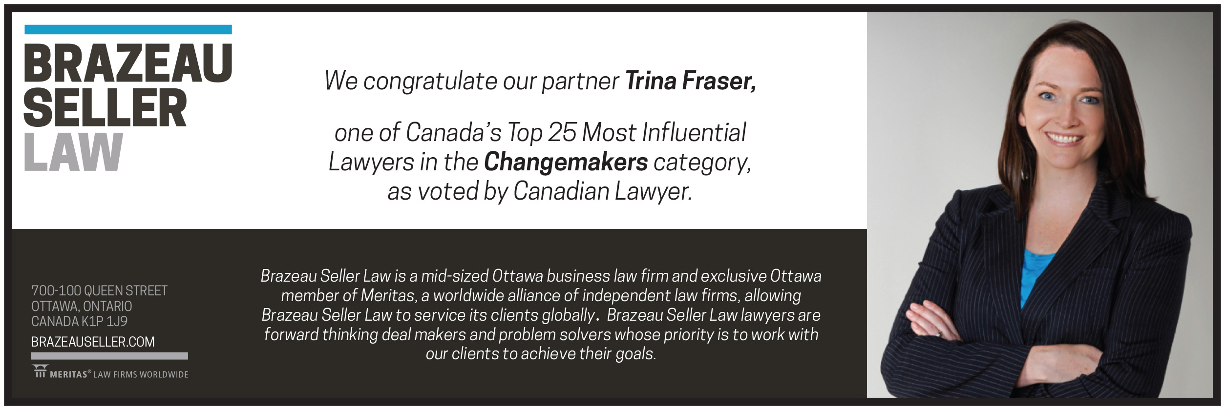 trina fraser top 25 lawyer award